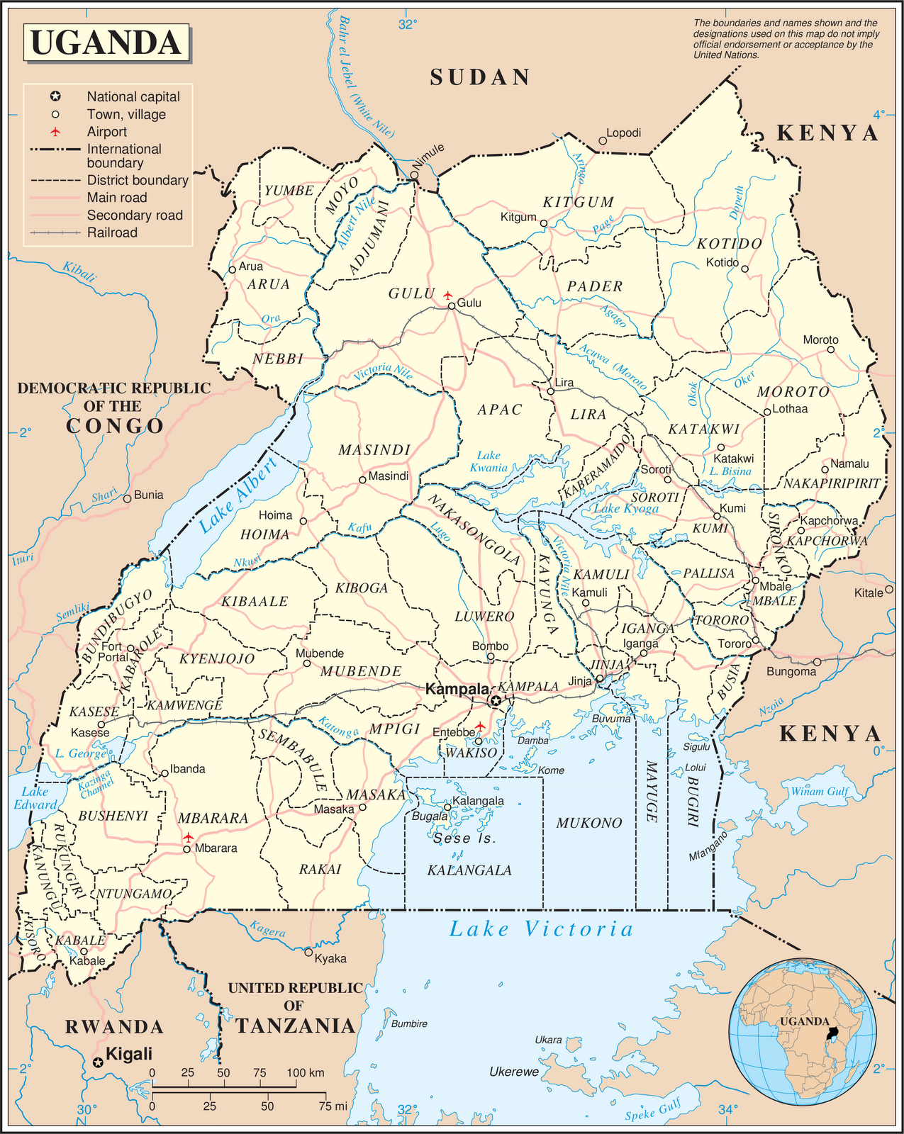 landen in afrika