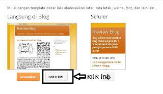 masuk ke kode html template