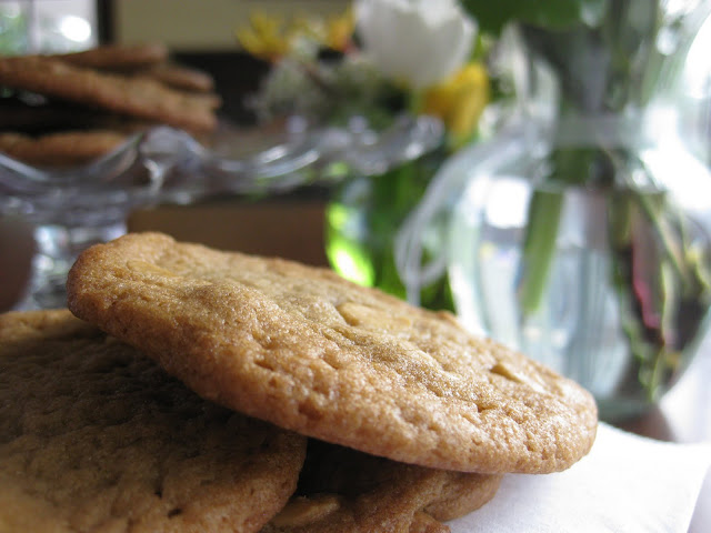 Photo of cookies resulting from butterscotch refrigerator cookie recipe.