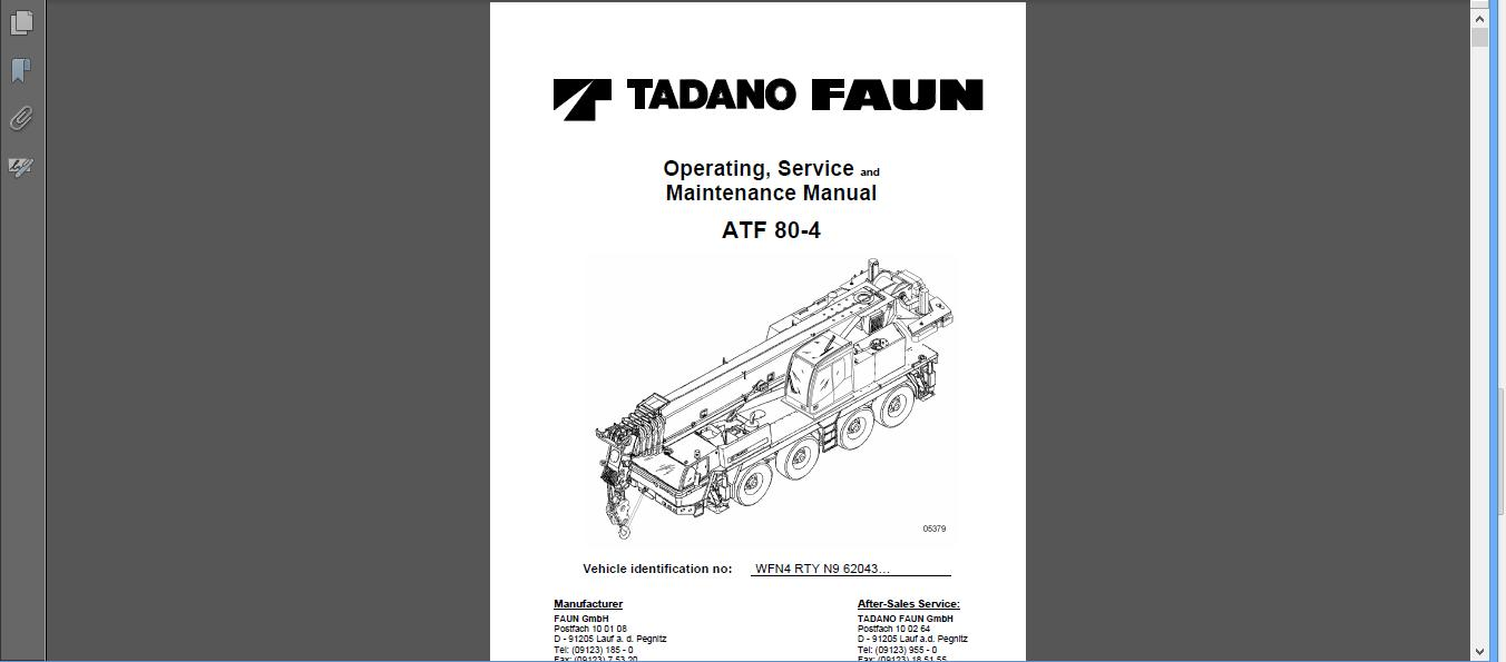 free automotive manuals operating service and maintenance manual rh freeautomotivemanual blogspot com tadano crane service manual tadano crane service manual