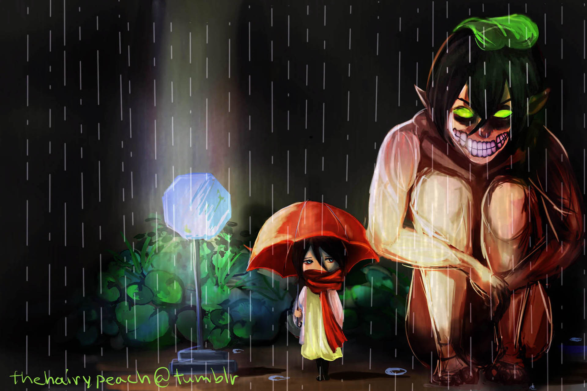 http://4.bp.blogspot.com/-RDzQlLADqCA/UiK4lWBjcZI/AAAAAAAAIJ0/kuGivJGTThk/s2560/cute+eren+titan+form+mikasa+ackerman+Attack+on+Titan+Shingeki+no+Kyojin+raining+anime+hd+wallpaper+for+desktop.jpg