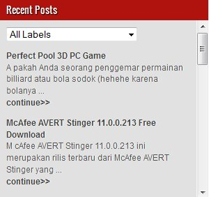 Membuat Recent Posts Dengan Label