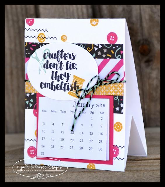 Pink buckaroo designs desktop calendar gifts - Desktop calendar design ideas ...