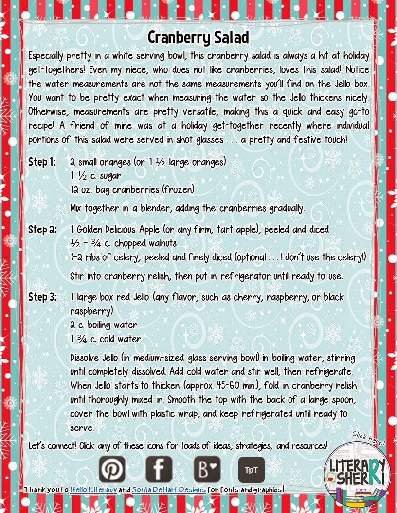http://www.teacherspayteachers.com/Product/The-2014-Secondary-Teachers-Holiday-Recipe-Book-FREE-1605683
