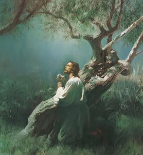 Wallpaper Yesus Berdoa Di Taman Getsemani