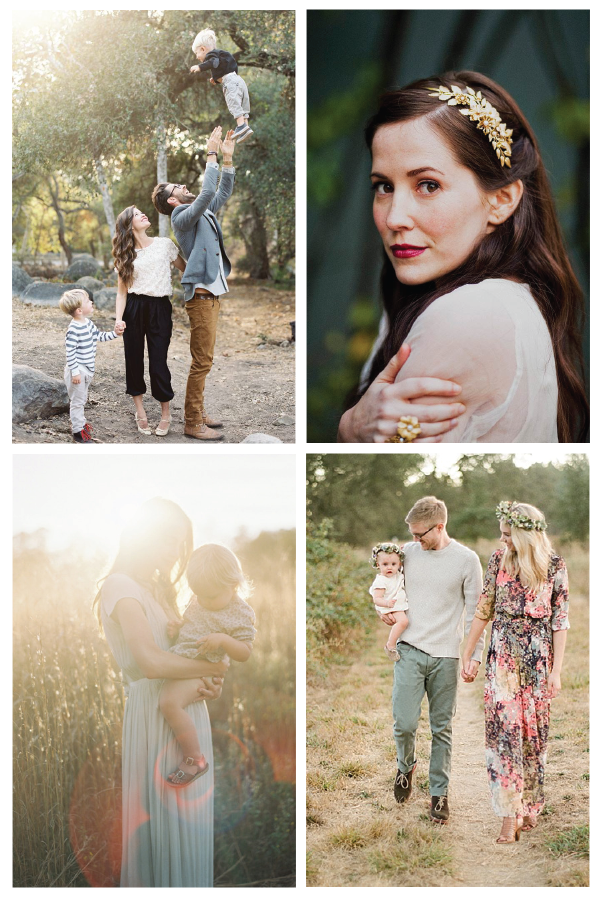 Inspiration for a Winter meets Spring Family Photo Shoot