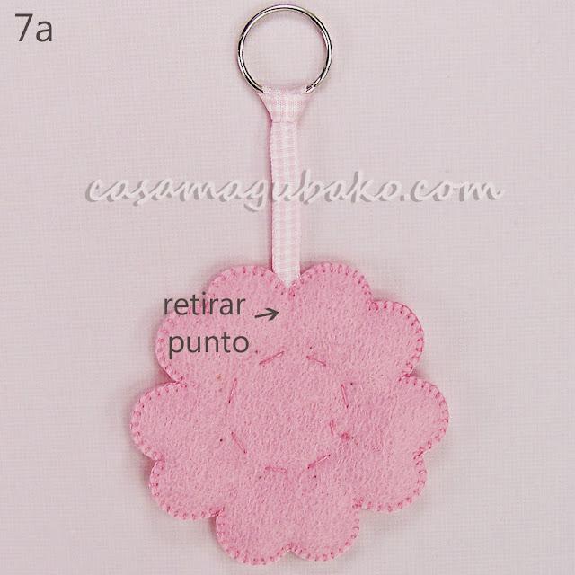 Tutorial Flor en Fieltro - Llavero by casamagubako.com