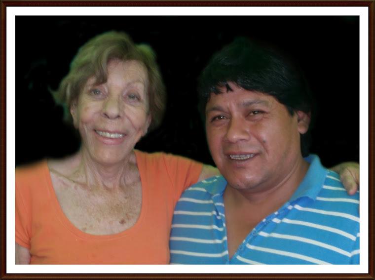Con Violeta Vidaurre