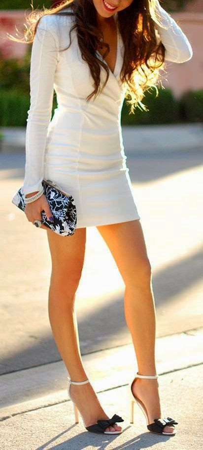 Chic white. Outfit! The Fashion