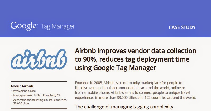 Productivity tip: use Google's Tag Manager for your website data collection