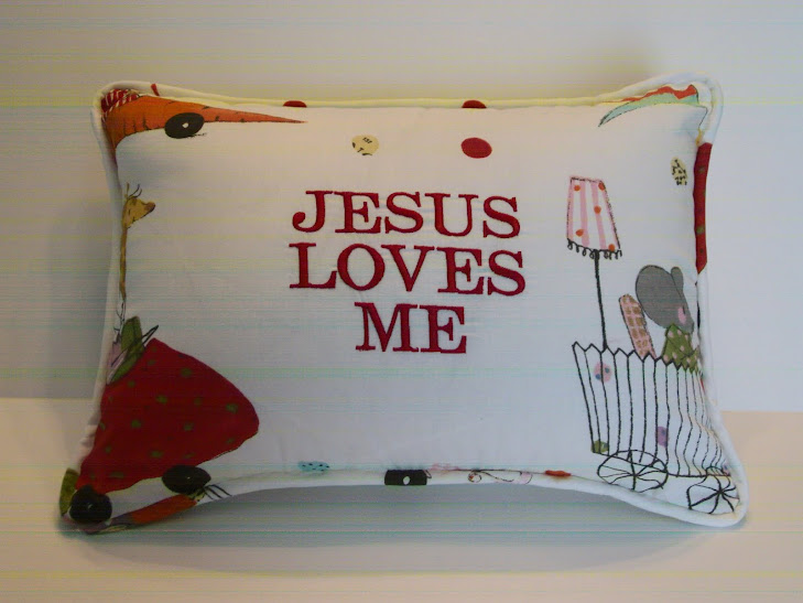 Jesus Loves Me - Whimsy Red
