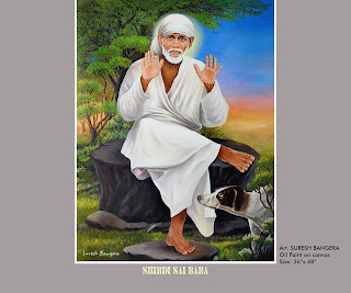 my paintings sai baba oil painting