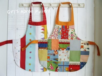 Girls Sweetheart Neckline Apron Pattern - Downloads - Sewing Mamas