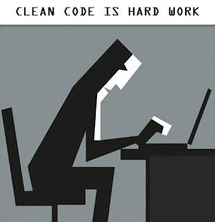 Clean code is hard work