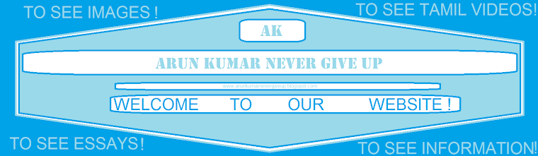 ARUN KUMAR NEVER GIVE UP.