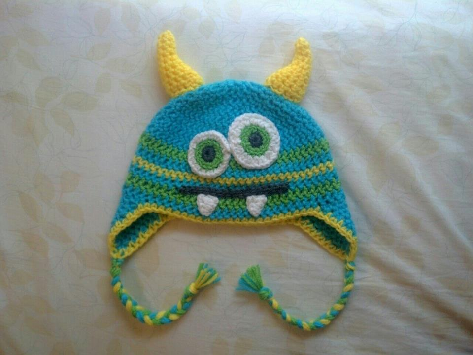 Free Crochet Hat Patterns For Halloween : The Knitless Knitter: Crochet Monster Hat : Free Eyes and ...