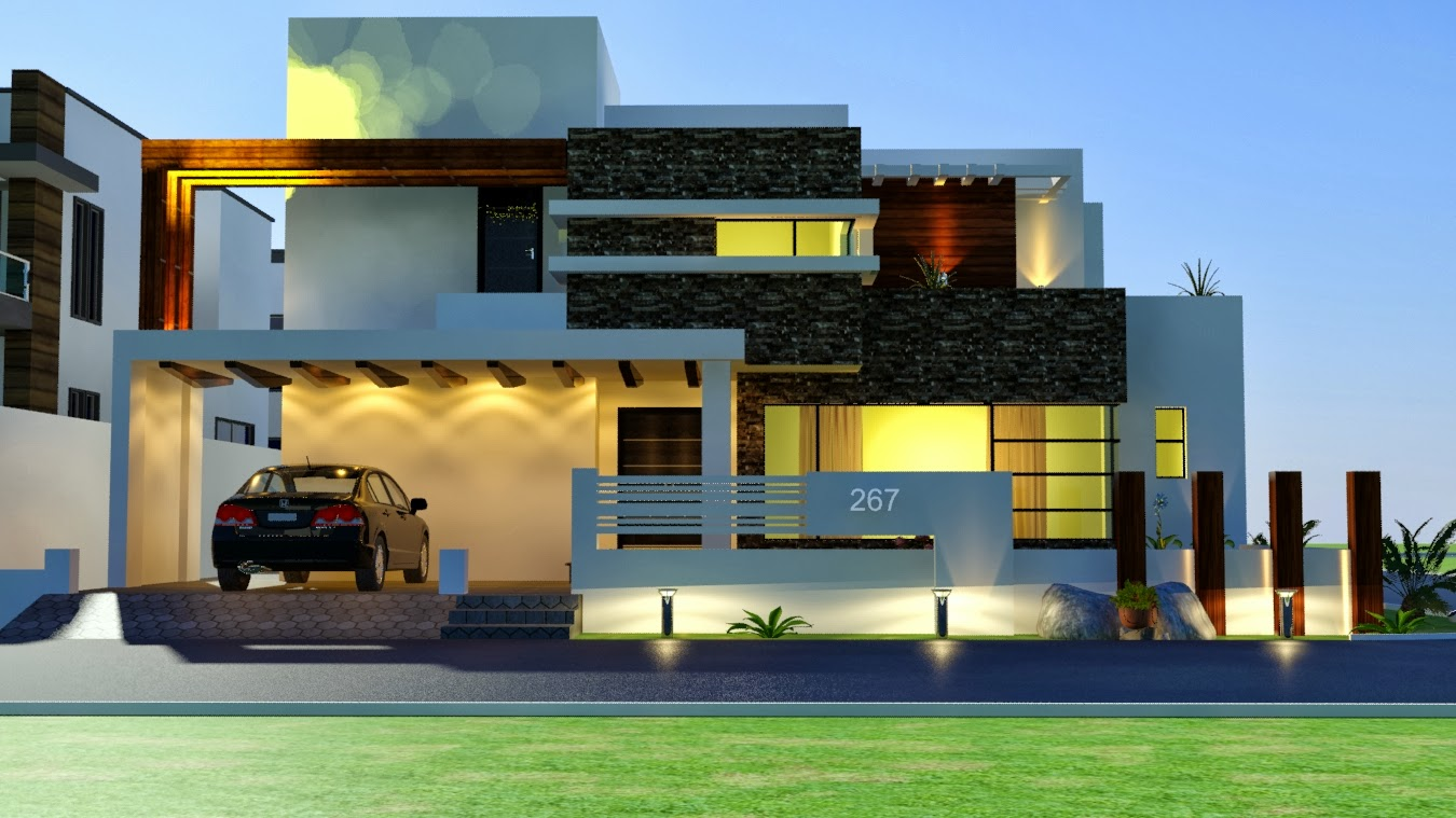 Modern bungalow elevation joy studio design gallery for Modern house designs 3d
