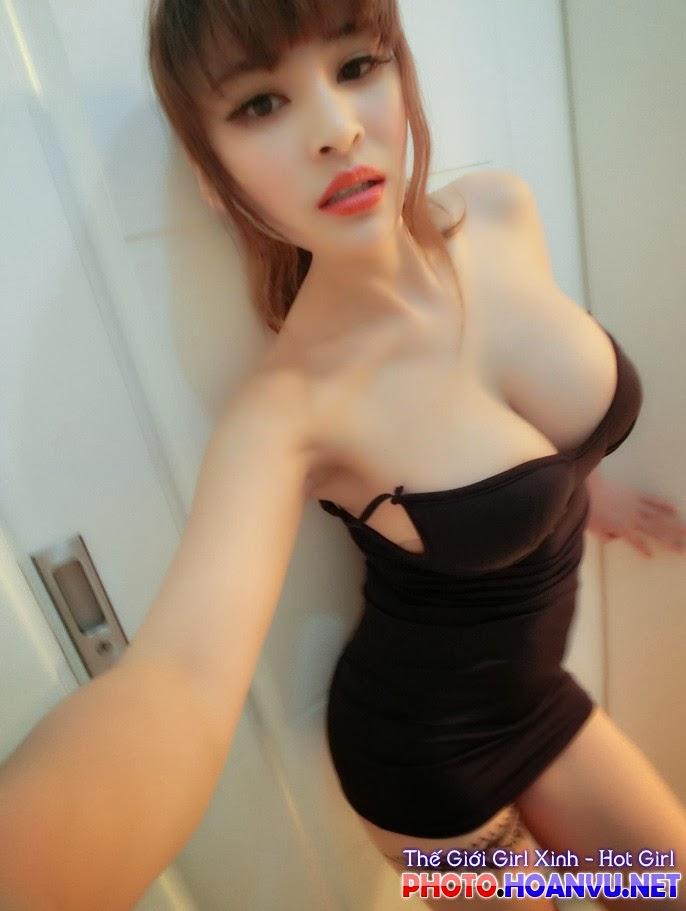 Ảnh Hot girl Suxia tự sướng khoe bưởi bá đạo 16