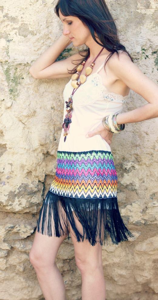 vestido vintage hecho a mano