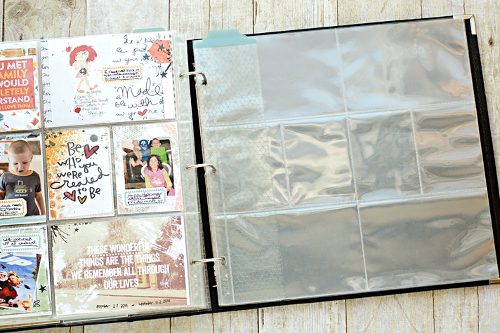 How to catch up when you've fallen behind in your weekly pocket scrapbooking project, using Lightroom and what you have on hand