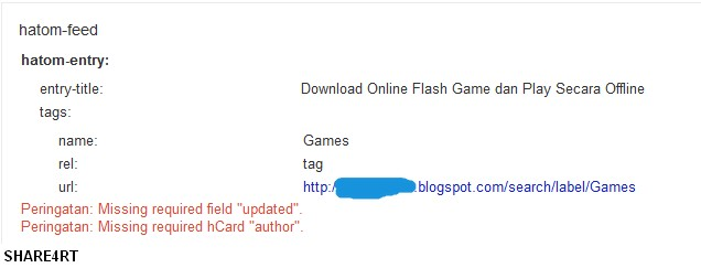 """Cara Mengatasi Missing required field """"updated"""" dan  Missing required hCard """"author"""""""