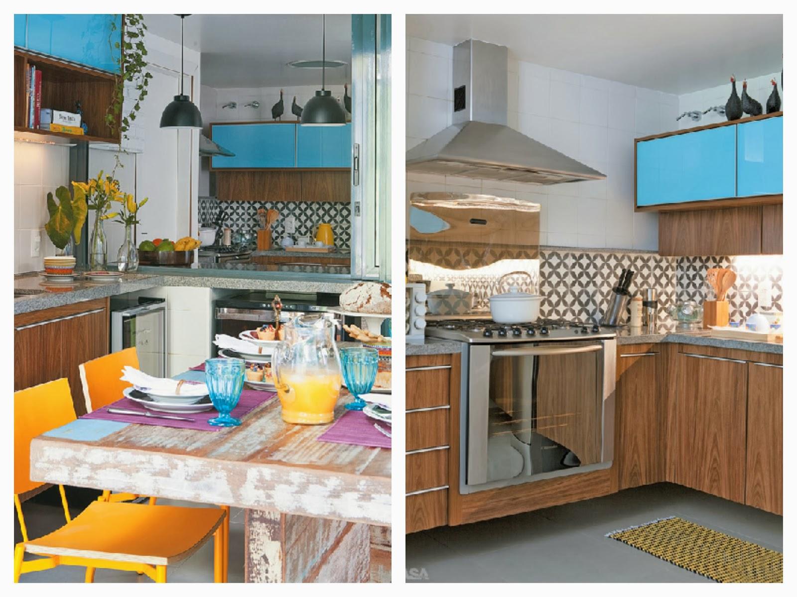 decoracao de cozinha azul e amarelo: cozinha e como os armário foram  #B36C18 1600 1200