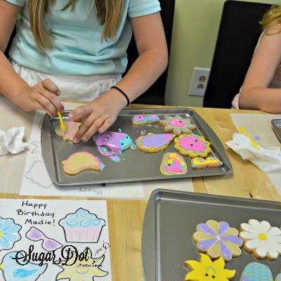 how about a cookie decorating party interested in having a sugar dot cookies birthday party please visit my website for more information - Sugar Cookie Decorating