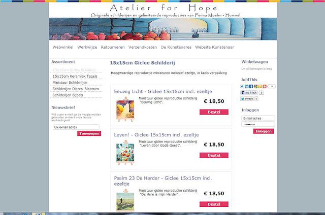 webwinkel Atelier for Hope: online bestellen schilderijen en kunstkado's