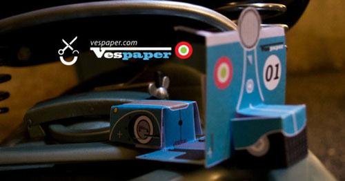 Vespa papertoy, Publicitário13