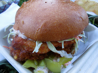 Corn Flake Crusted Fried Chicken Sandwich from 3-SUM EATS
