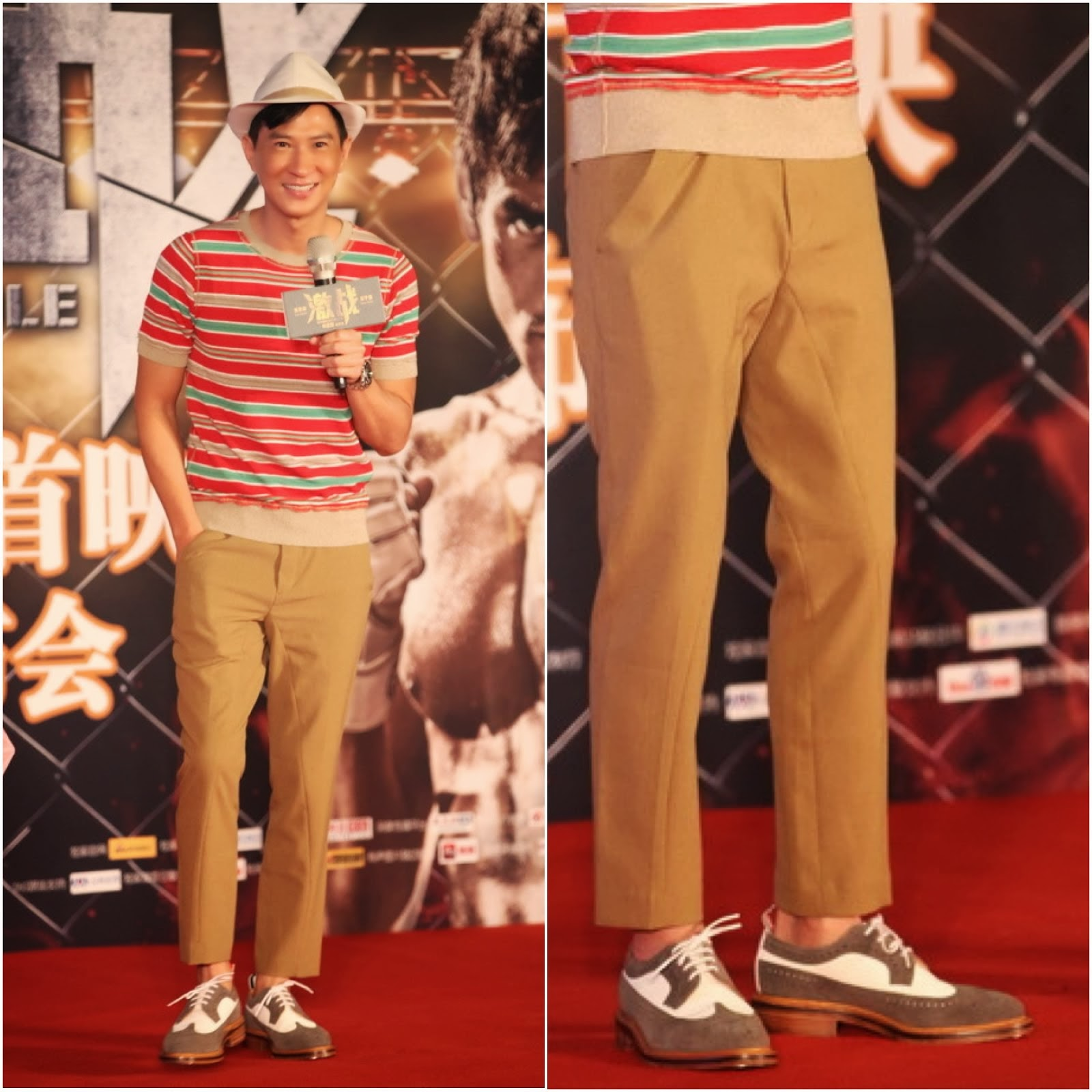 00O00 Menswear Blog http://00O00.blogspot.com Nick Cheung's [张家辉] Thom Browne suede Longwing brogues [激战]8月11日首映发布会