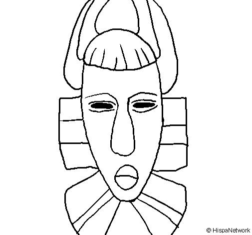 Máscaras Africanas para colorir com a turma! Máscaras Africanas para