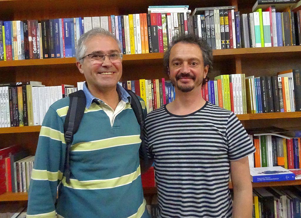Com o escritor Valério Romão
