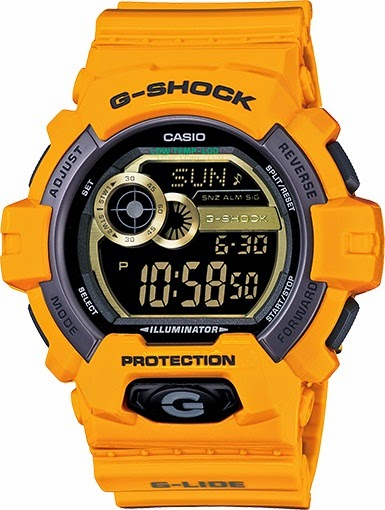 Casio G-Shock GLS8900-9 G-LIDE Yellow Big Case