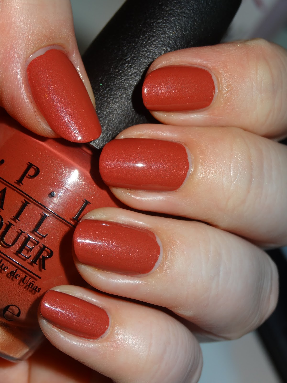 Polishlover opi schnapps out of it comic nail art this is opi schnapps out of it nl g22 from the fall 2012 german collection it is a terracotta creme polish leaning towards a coral shade and has a prinsesfo Image collections