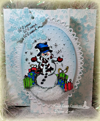 Stamps - North Coast Creations Let it Snow, Our Daily Bread Designs Snowflake Background, ODBD Custom Snowflakes Die
