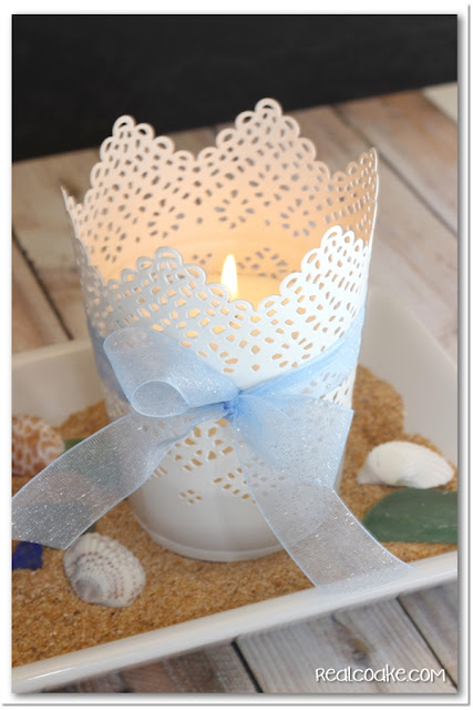 A Simple Summer Centerpiece. #HomeDecor #Centerpiece #Summer #RealCoake