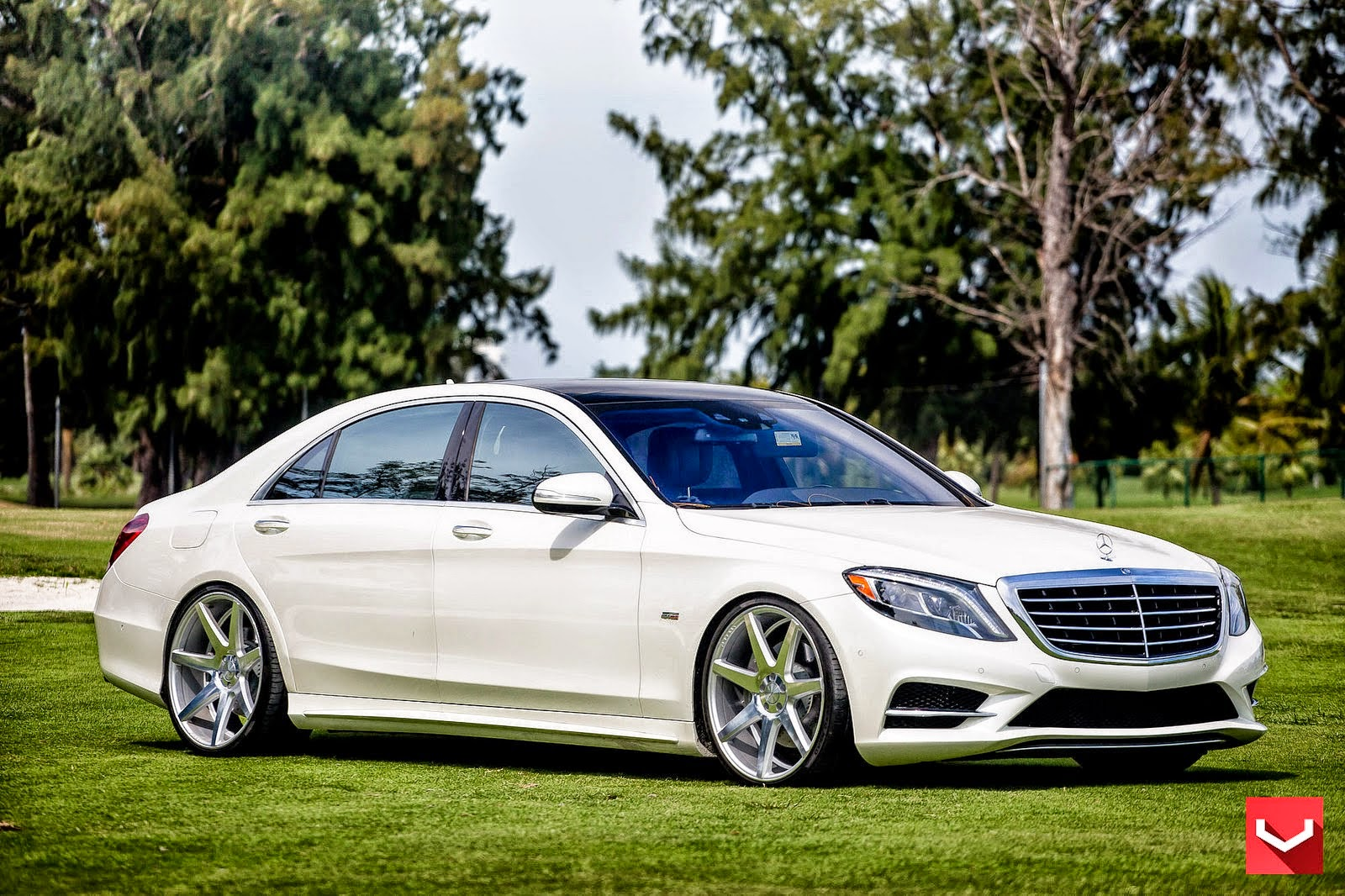 mercedes benz w222 s550 on vossen cv7 wheels benztuning ForMercedes Benz S550 Rims