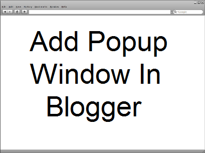 add popup window