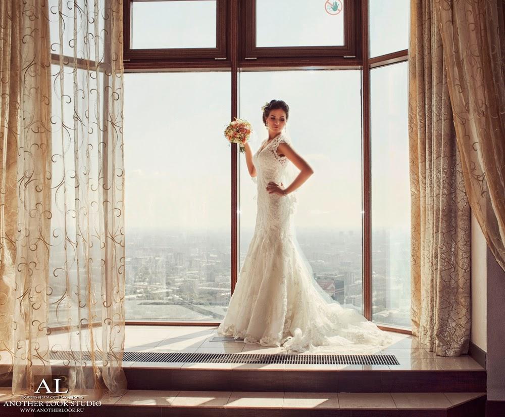 Невеста на фоне панорамы