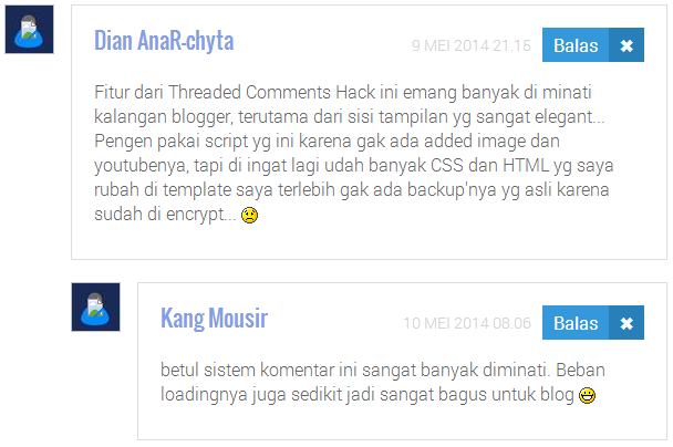 Threaded Comments Ala Kang Mousir