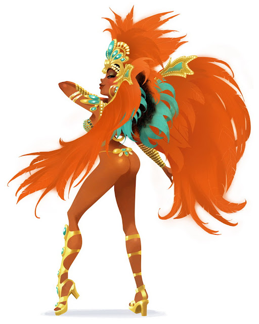 brazil carnaval pin up cartoon girl