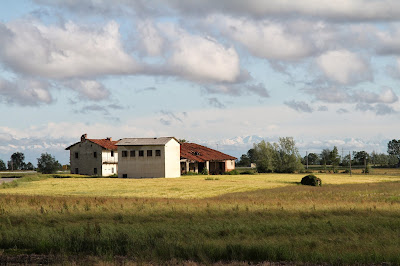View of Farmhouse and Wheatfield near Augusta Bagiennorum