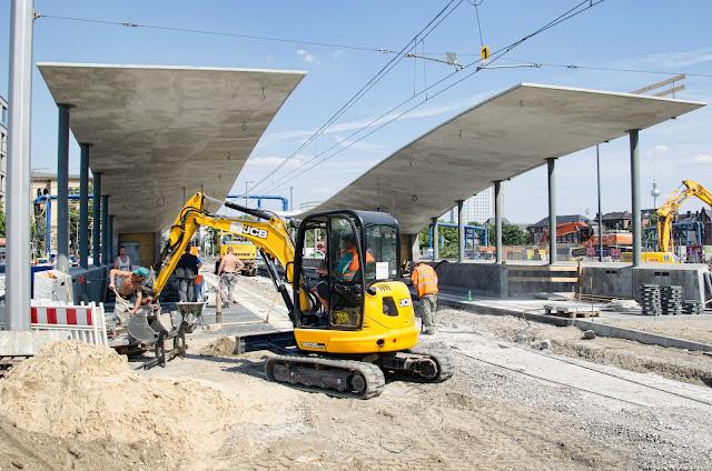 Baustelle Tram-Station am Hauptbahnhof, M6, M8, M10, Invalidenstraße 53, 10557 Berlin, 03.08.2015