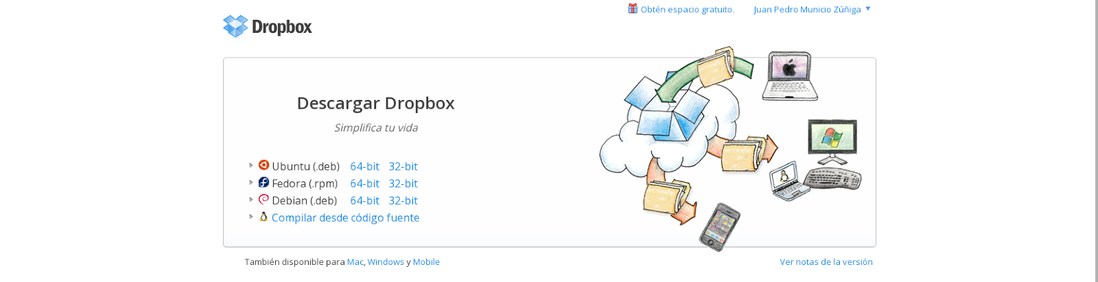 Descargar dropbox español gratis windows 7