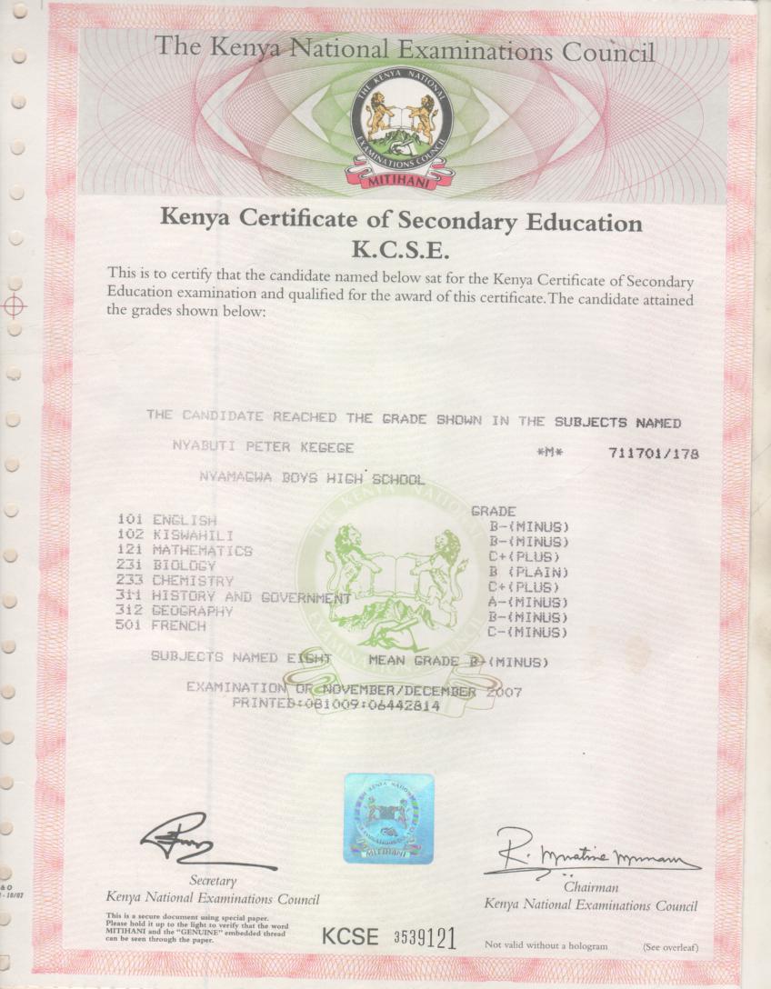 Kenya primary school leaving certificate bigfoot und die documents pdf kenya secondary school leaving certificate form yadclub Gallery