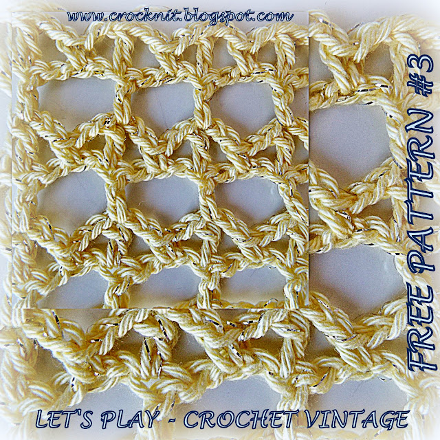 free crochet patterns, vintage, arches, how to crochet