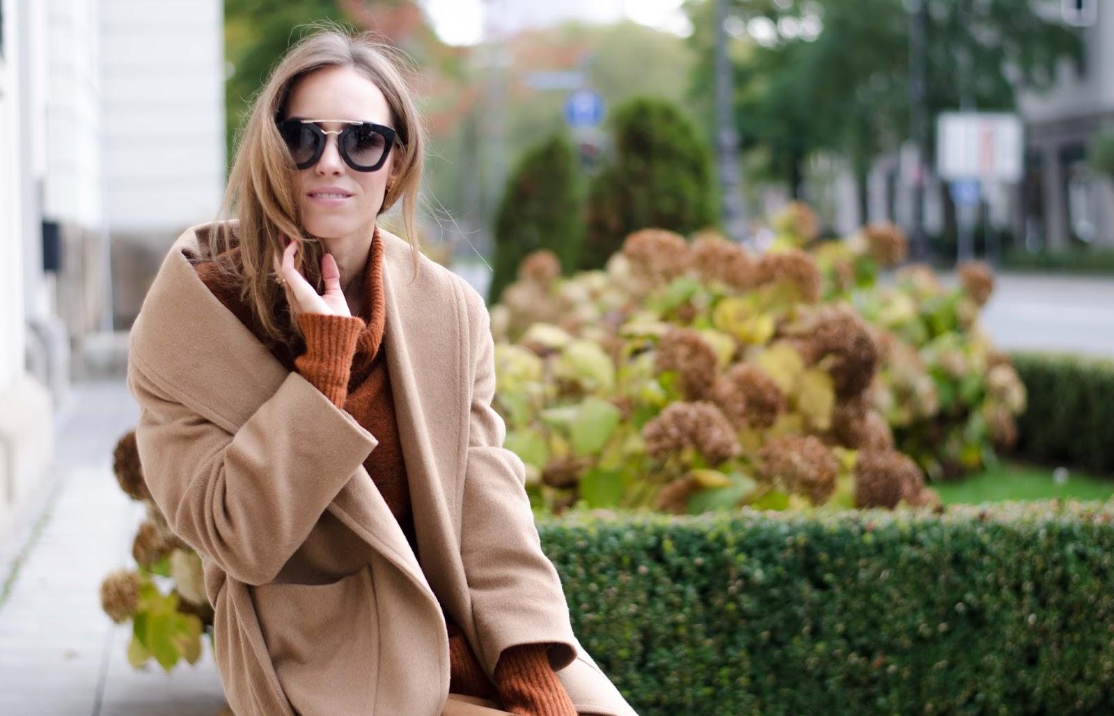 kristjaana mere mango camel coat lindex rustic roll neck jumper prada cinema sunglasses