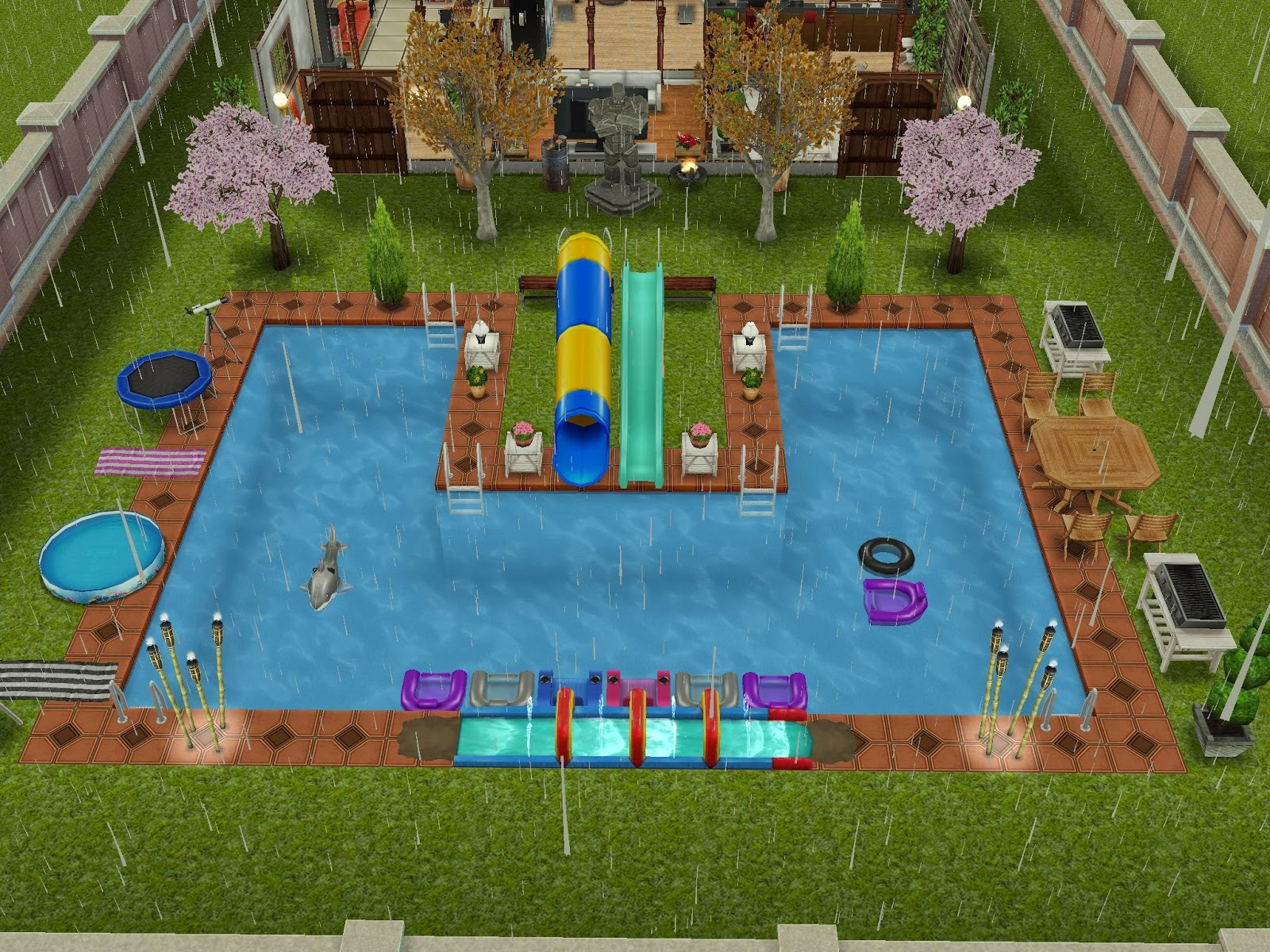 Sims freeplay pool ideas images for Pool design sims 4