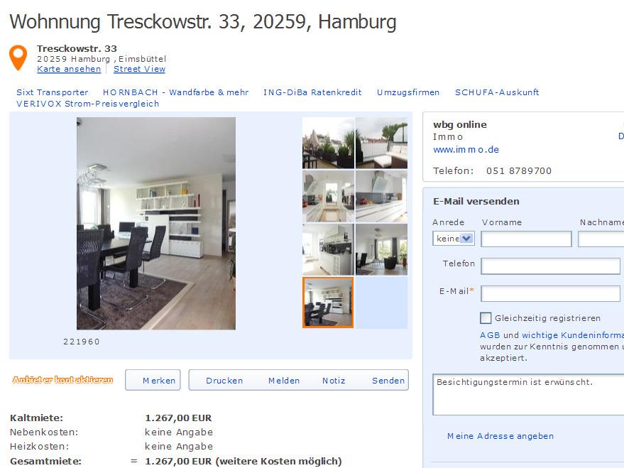 neue betrugsangebote wohnnung hamburg vorkassebetrug fraud scam. Black Bedroom Furniture Sets. Home Design Ideas
